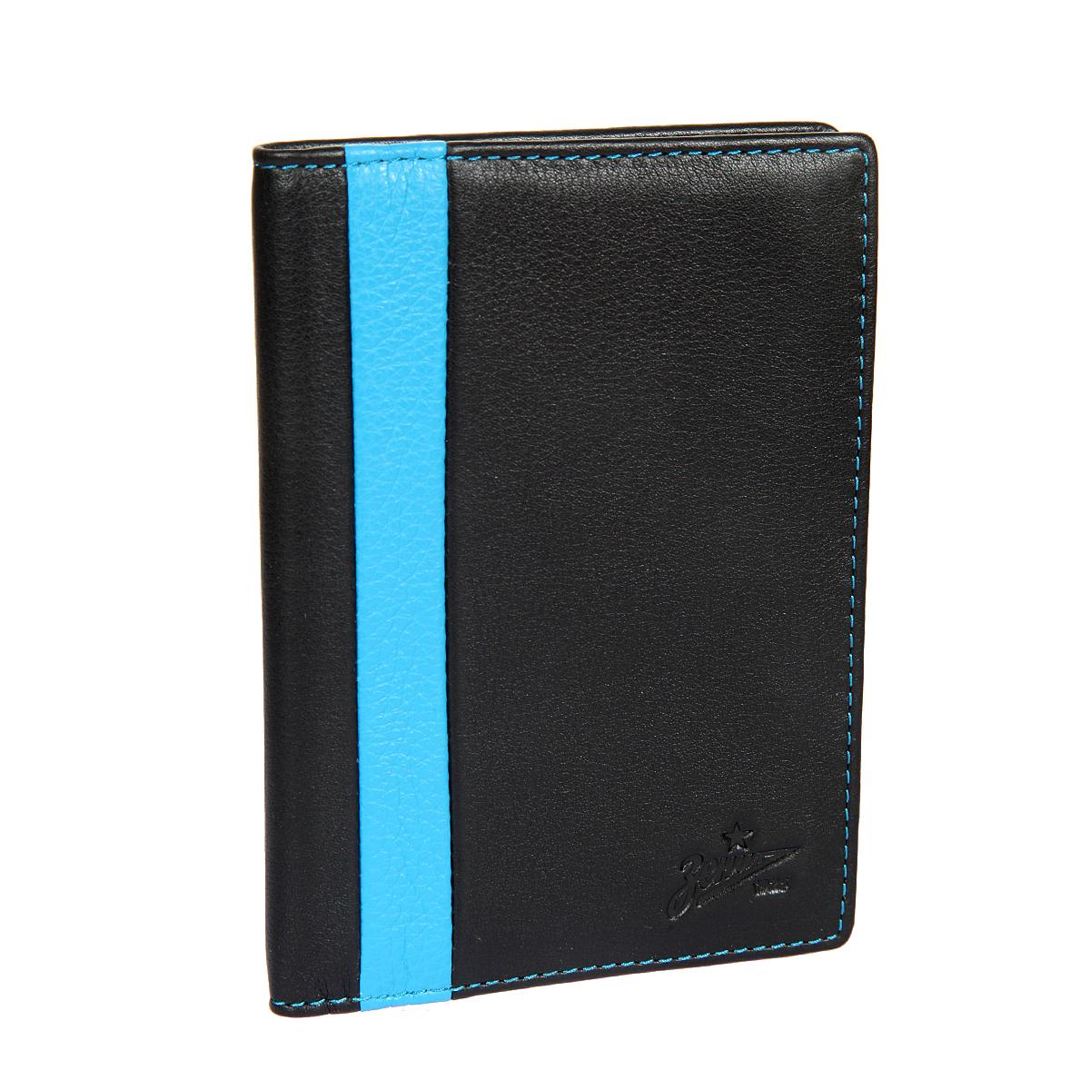 Обложка для паспорта мужская Gianni Conti, цвет: черный. Z587455Z587455 black/blueРаскладывается пополам, внутри левое поле натуральная кожа - 3 см, правое поле натуральная кожа - 7 см, на нем шесть кармашков для пластиковых карт.