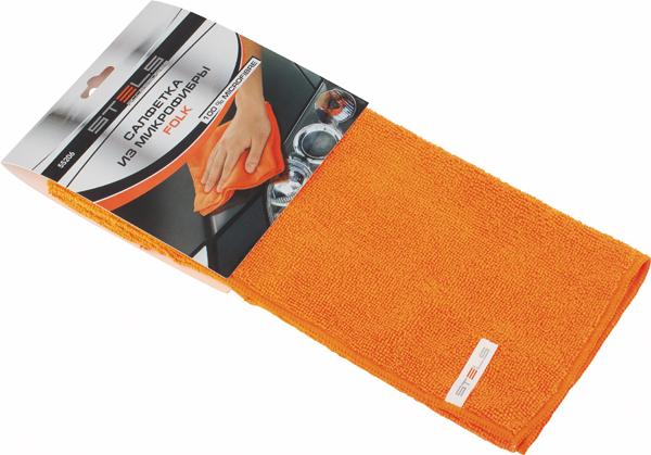 Салфетка автомобильная Stels Folk, 350 х 400 мм55206Особая структура ткани для деликатной чистки. В сухом виде удаляет пыль и полирует поверхность, во влажном виде удаляет стойкие загрязнения. Не оставляет ворсинок и разводов, не царапает поверхность, проникая в микротрещины, устраняет бактерии и микробы, впитывает жидкости больше, чем обычная ткань.