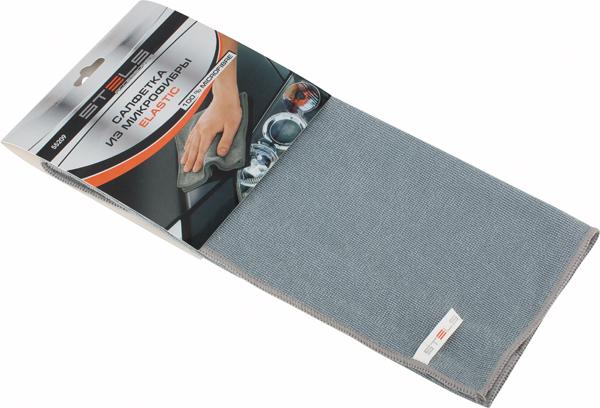 Салфетка автомобильная Stels Elastic, 350 х 400 мм55209Проникает в самые труднодоступные места. Эффективно удаляет все виды загрязнений. Не оставляет ворсинок и разводов, не царапает поверхность, проникая в микротрещины, устраняет бактерии и микробы, впитывает жидкости больше, чем обычная ткань.