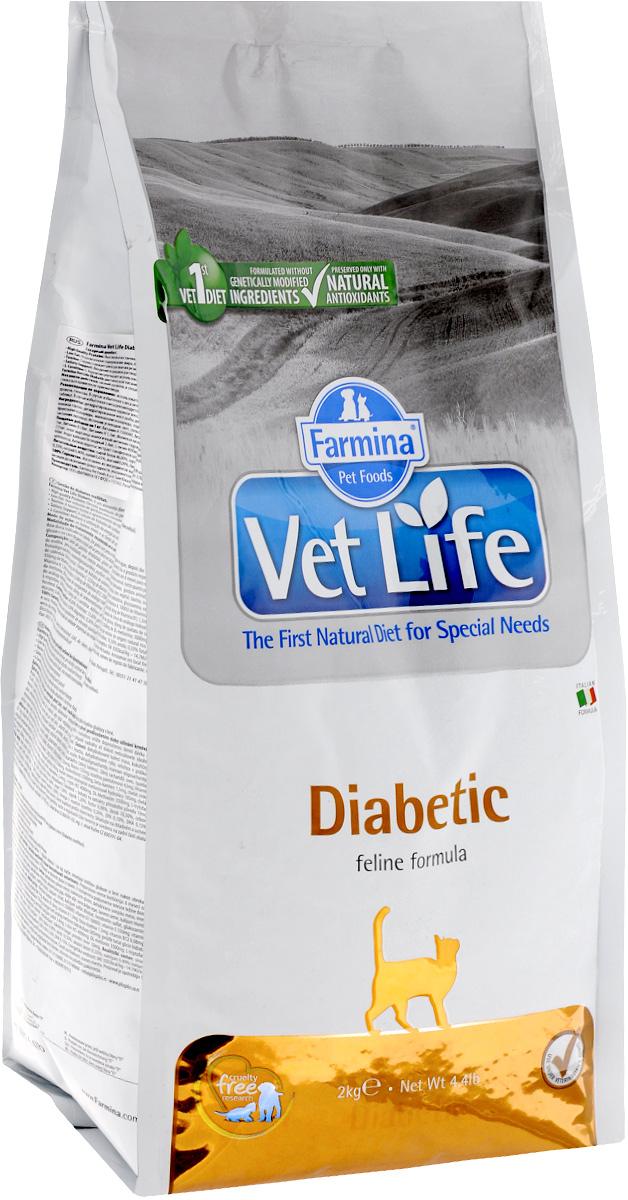 Корм сухой Farmina Vet Life для кошек с сахарным диабетом, диетический, 2 кг25326Сухой корм Farmina Vet Life - это диетическое полнорационное и сбалансированное питание для взрослых кошек с сахарным диабетом. Низкий уровень и специально подобранные источники крахмала и сахаров, содержащиеся в диетическом питании Farmina Vet Life, снижают уровень глюкозы в крови после приема пищи. Товар сертифицирован.