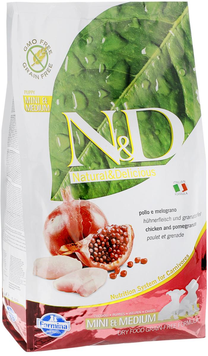 Корм сухой Farmina N&D для щенков мелких и средних пород, беззерновой, с курицей и гранатом, 2,5 кг20031Сухой корм Farmina N&D является беззерновым и сбалансированным питанием для щенков мелких и средних пород. Изделие имеет высокое содержание витаминов и питательных веществ. Сухой корм содержит натуральные компоненты, которые необходимы для полноценного и здорового питания домашних животных. Товар сертифицирован.
