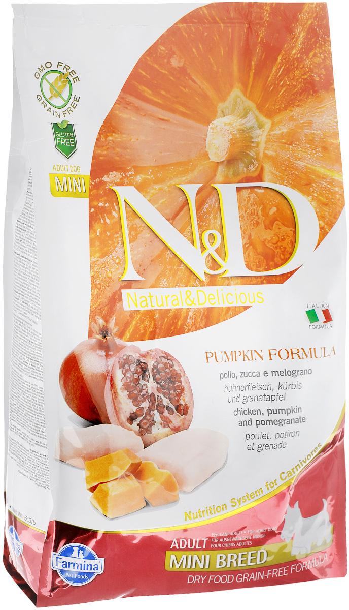 Корм сухой Farmina N&D для собак мелких пород, беззерновой, с курицей, гранатом и тыквой, 2,5 кг33253Сухой корм Farmina N&D является беззерновым и сбалансированным питанием для собак мелких пород. Изделие имеет высокое содержание витаминов и питательных веществ. Сухой корм содержит натуральные компоненты, которые необходимы для полноценного и здорового питания домашних животных. Товар сертифицирован.