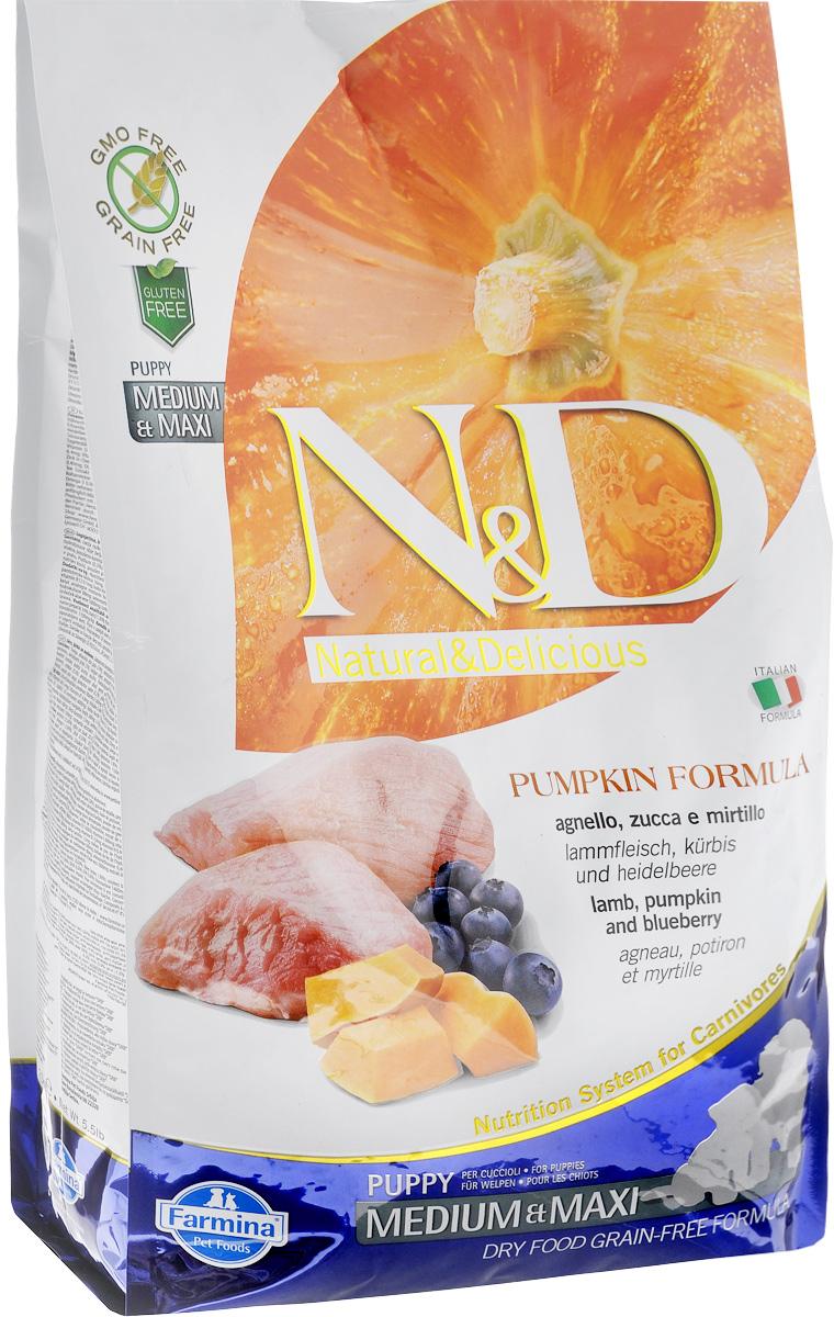 Корм сухой Farmina N&D для щенков средних и крупных пород, беззерновой, с ягненком, черникой и тыквой, 2,5 кг33246Сухой корм Farmina N&D является беззерновым и сбалансированным питанием для щенков средних и крупных пород, также подходит для беременных и кормящих собак. Изделие имеет высокое содержание витаминов и питательных веществ. Сухой корм содержит натуральные компоненты, которые необходимы для полноценного и здорового питания домашних животных. Товар сертифицирован.