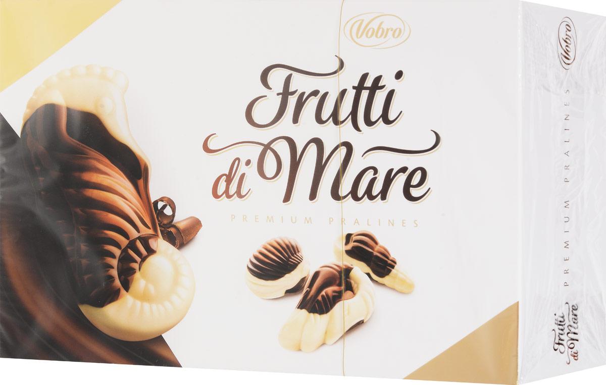 Vobro Frutti di Mare набор шоколадных конфет в виде морских ракушек, 350 г13863Уникальная форма и неповторимый вкус… Такими являются коробки конфет Vobro Frutti di Mare в виде морепродуктов. Прекрасная композиция белого и черного шоколада, и к тому же начинка 4 вкусов: какао, арахис, молочный и тоффи.