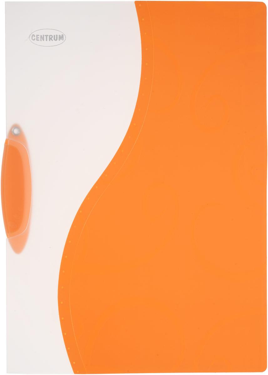 Папка с клипом Centrum, цвет: оранжевый, формат А483618Папка с клипом Centrum - это удобный и практичный офисный инструмент, предназначенный для хранения и транспортировки неперфорированных рабочих бумаг и документов формата А4. Она изготовлена из прочного пластика и оснащена боковым поворотным клипом, позволяющим фиксировать неперфорированные листы. Папка - это незаменимый атрибут для студента, школьника, офисного работника. Такая папка практична в использовании и надежно сохранит ваши документы и сбережет их от повреждений, пыли и влаги.