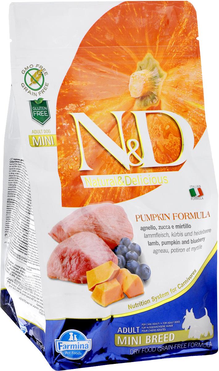 Корм сухой Farmina N&D для собак мелких пород, беззерновой, с ягненком, черникой и тыквой, 800 г33208Сухой корм Farmina N&D является беззерновой и сбалансированным питанием для собак мелких пород, также подходит для беременных и кормящих собак. Изделие имеет высокое содержание витаминов и питательных веществ. Сухой корм содержит натуральные компоненты, которые необходимы для полноценного и здорового питания домашних животных. Товар сертифицирован.
