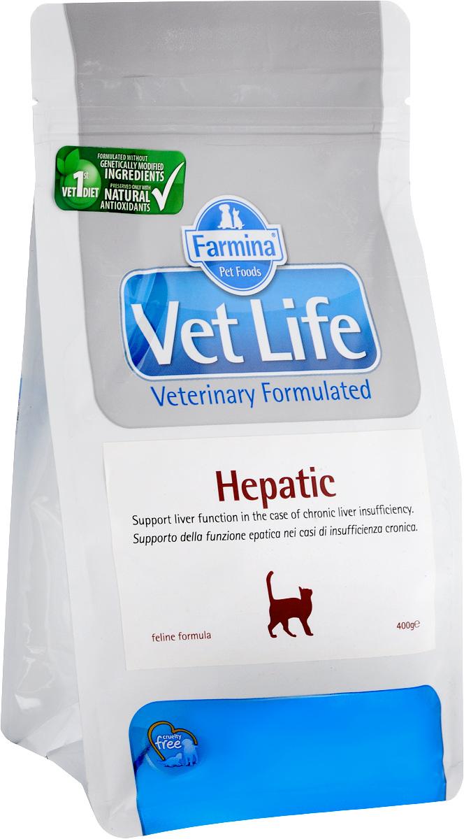 Корм сухой для кошек Farmina Vet Life, диетический, при хронической печеночной недостаточности, 400 г30405Сухой корм Farmina Vet Life - диетическое питание для кошек с хронической печеночной недостаточностью. Диета содержит ограниченное количество белка высокого качества, высокий уровень полиненасыщенных жирных кислот и высокий уровень легко усваиваемых углеводов. Низкое потребление меди ограничивает токсическое воздействие на поврежденное гепатоциты. Повышенное содержание полиненасыщенных жирных кислот омега=3 обеспечивает противовоспалительное действие и улучшает симптоматику при острых гепатопатияхю Присутствие в диете крахмала и гидролизата белка компенсирует недостаточность пищеварения (белкового и углеводного обмена)в случает хронической печеночной недостаточности. Товар сертифицирован.