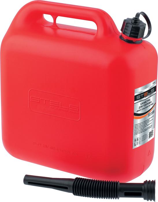 Канистра Stels для топлива, пластиковая, 10 л53122Канистры предназначены для хранения и переноса бензина и ГСМ. Каждая канистра оборудована сливным носиком и крышкой. Благодаря носику при заправке топливного бака из канистры бензин не проливается. Изготовлены из бензостойкого пластика.