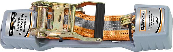 Ремень для крепления багажа Stels, 5 м х 38 мм, с крюками, храповый механизм Automatic54365Ремень багажный из синтетического материала с крюками на концах. Храповой механизм обеспечивает легкость натяжения ремня. Применяется для закрепления предметов в открытых багажниках, монтируемых на крышах легковых автомобилей.