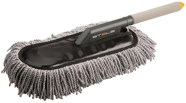 Щетка для удаления пыли Stels, микрофибра55226Нити из микрофибры эффективно удаляют пыль с поверхности автомобиля. Не царапает лакокрасочное покрытие. Легко очищается (достаточно несколько раз встряхнуть щетку).