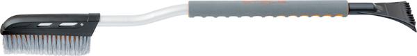 Щетка для снега Stels, со скребком, 92,5 см55300Щетина с расщепленными концами не царапает поверхность при чистке снега. Широкий скребок ускоряет процесс очистки поверхности от льда. Уникальная форма щетки позволяет очищать труднодоступные места. Удобная, мягкая рукоятка.