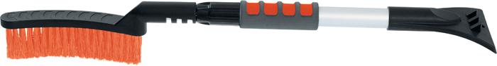 Щетка для снега Stels, со скребком, телескопическая, 70 см55304Усиленная рукоятка из алюминиевого сплава с мягким держателем. Густая распушенная щетина для бережной очистки снега с поверхности. Мощный скребок с зубьями для дробления льда.
