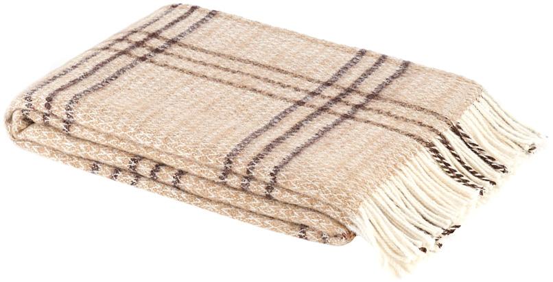 Плед Британия, цвет: бежевый, коричневый, 140 см х 200 см. 1-261-140_011-261-140_01Теплый пушистый плед Британия, выполненный из натуральной новозеландской овечьей шерсти, добавит комнате уюта и согреет в прохладные дни. Удобный размер этого качественного пледа позволит использовать его и как одеяло, и как покрывало для кресла или софы. Плед упакован в пластиковую сумку-чехол на застежке-молнии, а прочные текстильные ручки делают чехол удобным для переноски. Такое теплое украшение может стать отличным подарком друзьям и близким! Под шерстяным пледом вам никогда не станет жарко или холодно, он помогает поддерживать постоянную температуру тела. Шерсть обладает прекрасной воздухопроницаемостью, она поглощает и нейтрализует вредные вещества и славится своими целебными свойствами. Плед из шерсти станет лучшим лекарством для людей, страдающих ревматизмом, радикулитом, головными и мышечными болями, сердечно-сосудистыми заболеваниями и нарушениями кровообращения. Шерсть не электризуется. Она прочна, износостойка, долговечна. Наконец, шерсть просто...