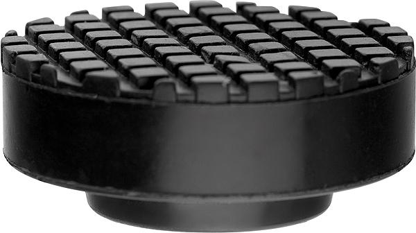 Резиновая опора для подкатного домкрата Matrix50905Предназначены для установки на подъемные устройства для автомобилей. Исключают повреждения автомобиля при подъеме. Подходят для подкатных домкратов различного типа. Диаметр: верхний— 65 мм, нижний—37 мм. Высота подъема—27 мм.