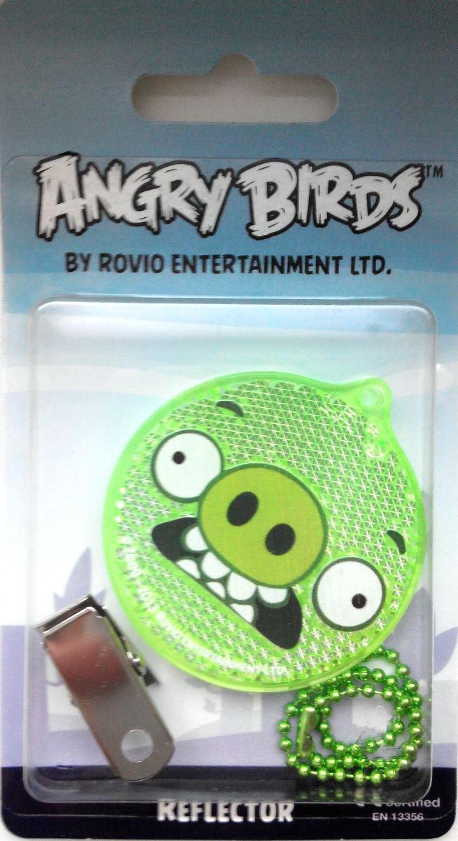 Световозвращатель пешеходный Coreflect Angry Birds Pig Angry, цвет: зеленый123879Пешеходный светоотражатель — это серьезное средство безопасности на дороге. Использование светоотражателей позволяет в десятки раз сократить количество ДТП с участием пешеходов в темное время суток. Светоотражатель крепится на одежду и обладает способностью к направленному отражению светового потока. Благодаря такому отражению, водитель может вовремя заметить пешехода в темноте, даже если он стоит или двигается по обочине. А значит, он успеет среагировать и избежит возможного столкновения.
