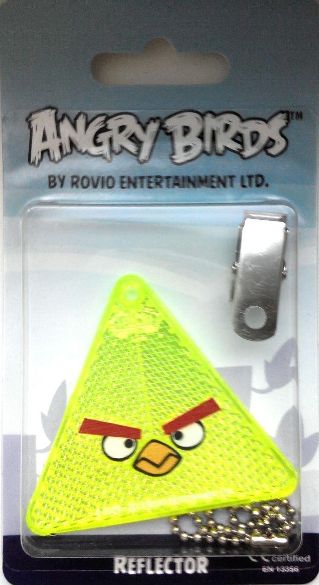 Световозвращатель пешеходный Coreflect Angry Birds Треугольник, цвет: желтый123882Пешеходный светоотражатель — это серьезное средство безопасности на дороге. Использование светоотражателей позволяет в десятки раз сократить количество ДТП с участием пешеходов в темное время суток. Светоотражатель крепится на одежду и обладает способностью к направленному отражению светового потока. Благодаря такому отражению, водитель может вовремя заметить пешехода в темноте, даже если он стоит или двигается по обочине. А значит, он успеет среагировать и избежит возможного столкновения.