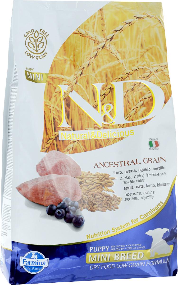 Корм сухой Farmina N&D для щенков мелких пород, низкозерновой, с ягненком и черникой, 2,5 кг33703Сухой корм Farmina N&D является низкозерновым и сбалансированным питанием для щенков мелких пород, также подходит для беременных и кормящих собак. Изделие имеет высокое содержание витаминов и питательных веществ. Сухой корм содержит натуральные компоненты, которые необходимы для полноценного и здорового питания домашних животных. Товар сертифицирован.