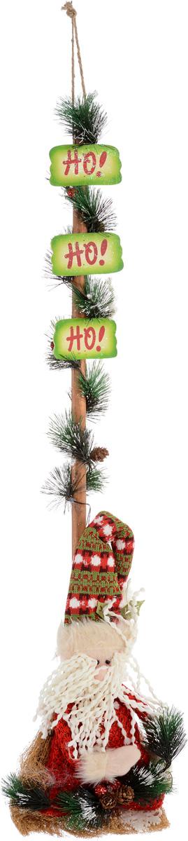 Украшение новогоднее Christmas Time Дед Мороз, с подсветкой, 36 х 10 х 99 см75241Новогоднее подвесное украшение Christmas Time Дед Мороз отлично подойдет для праздничного декора дома в преддверии праздников. Изделие выполнено в виде сидящего Деда Мороза с еловой веточкой на венике и украшено подсветкой (включатель находится внутри игрушки Деда Мороза). Черенок веника декорирован тремя табличками с надписью Ho!, мишурой с шишками. Вы можете поставить или повесить такую композицию в любое понравившееся вам место. Новогодние украшения несут в себе волшебство и красоту праздника. Они помогут вам украсить дом к предстоящим праздникам и оживить интерьер по вашему вкусу. Создайте в доме атмосферу тепла, веселья и радости, украшая его всей семьей. Украшение работает от 3 батареек типа ААА (в комплект не входят).