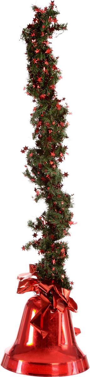 Украшение новогоднее подвесное Weiste Колокол, цвет: красный, зеленый, длина 75 см5867Новогоднее подвесное украшение Weiste Колокол выполнено из пластика и ПВХ. Изделие оформлено бантом. С помощью мишуры украшение можно повесить в любом понравившемся вам месте. Елочная игрушка - символ Нового года. Она несет в себе волшебство и красоту праздника. Создайте в своем доме атмосферу веселья и радости, украшая новогоднюю елку нарядными игрушками, которые будут из года в год накапливать теплоту воспоминаний. Размер колокольчика: 25 х 25 х 20 см. Длина гирлянды (без учета колокола): 75 см. Длина украшения (с учетом колокола): 94 см.