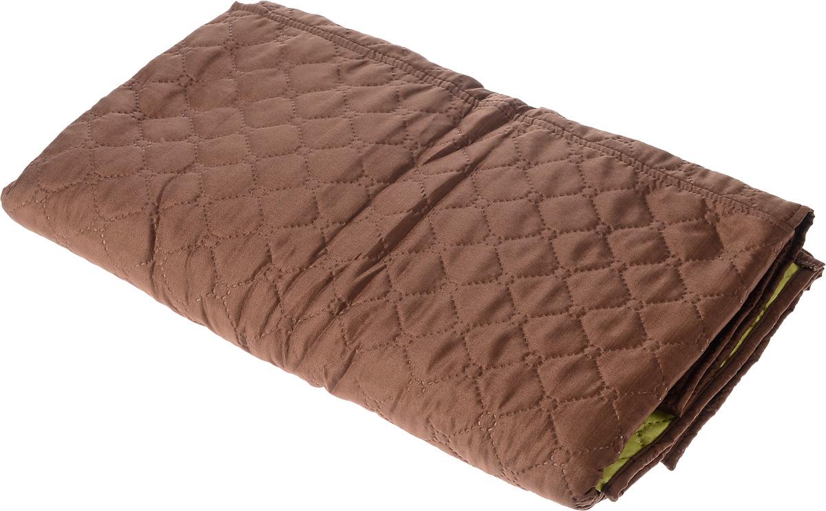 Накидка на кресло Медежда «Йорк», с карманами, цвет: шоколадный, ширина 55 см  диван кровать кожаный двухместный