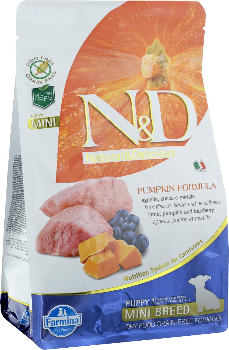 Корм сухой Farmina N&D для щенков мелких пород, беззерновой, с ягненком, черникой и тыквой, 800 г33185Сухой корм Farmina N&D является беззерновым и сбалансированным питанием для щенков мелких пород, также подходит для беременных и кормящих собак. Изделие имеет высокое содержание витаминов и питательных веществ. Сухой корм содержит натуральные компоненты, которые необходимы для полноценного и здорового питания домашних животных. Товар сертифицирован.