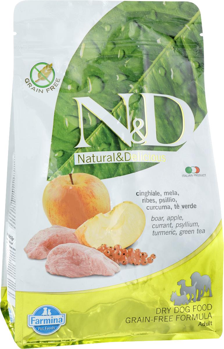 Корм сухой для собак Farmina N&D, беззерновой, с кабаном и яблоком, 800 г20338Сухой корм Farmina N&D является беззерновым и сбалансированным питанием для взрослых собак. Изделие имеет высокое содержание витаминов и питательных веществ. Сухой корм содержит натуральные компоненты, которые необходимы для полноценного и здорового питания домашних животных. Товар сертифицирован.