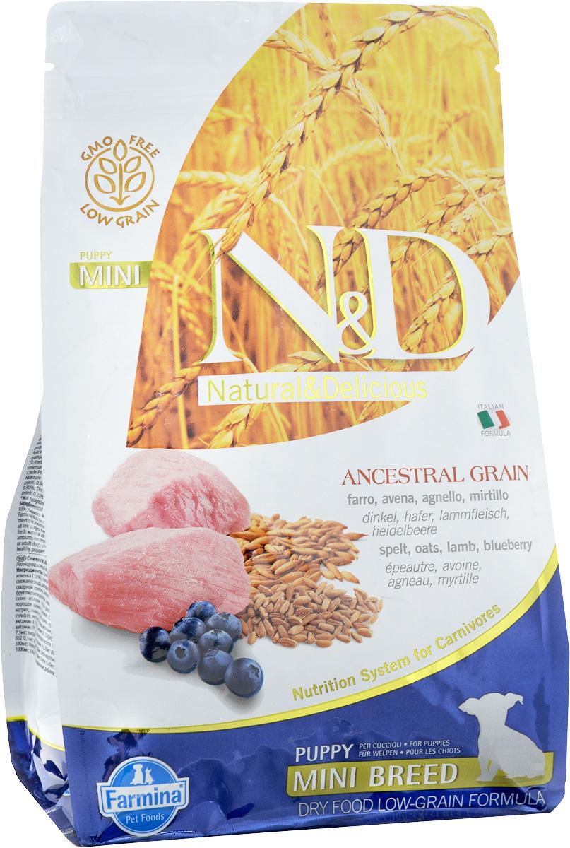 Корм сухой Farmina N&D для щенков мелких пород, низкозерновой, с ягненком и черникой, 800 г33697Сухой корм Farmina N&D является низкозерновым и сбалансированным питанием для щенков мелких пород, также подходит для беременных и кормящих собак. Изделие имеет высокое содержание витаминов и питательных веществ. Сухой корм содержит натуральные компоненты, которые необходимы для полноценного и здорового питания домашних животных. Товар сертифицирован.