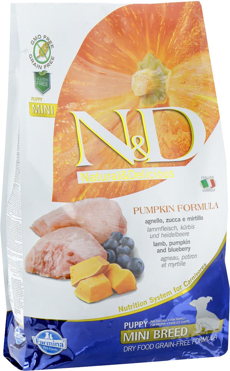 Корм сухой Farmina N&D для щенков мелких пород, беззерновой, с ягненком, черникой и тыквой, 2,5 кг33239Сухой корм Farmina N&D является беззерновым и сбалансированным питанием для щенков мелких пород, также подходит для беременных и кормящих собак. Изделие имеет высокое содержание витаминов и питательных веществ. Сухой корм содержит натуральные компоненты, которые необходимы для полноценного и здорового питания домашних животных. Товар сертифицирован.