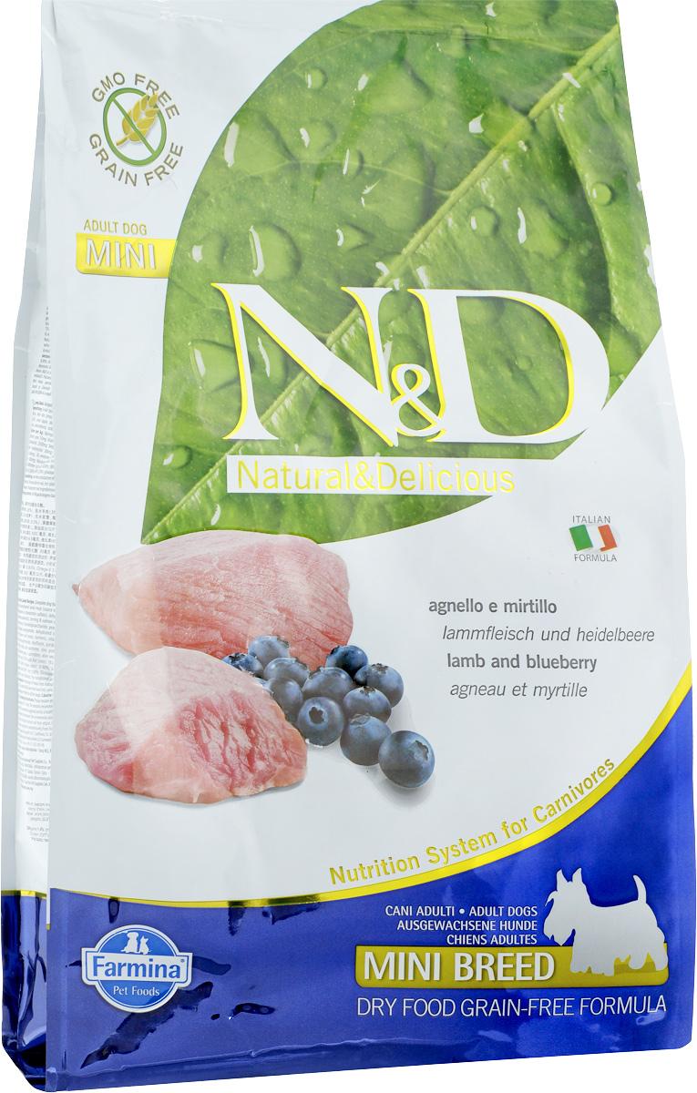 Корм сухой Farmina N&D для собак мелких пород, беззерновой, с ягненком и черникой, 2,5 кг21816Сухой корм Farmina N&D является беззерновой и сбалансированным питанием для собак мелких пород, также подходит для беременных и кормящих собак. Изделие имеет высокое содержание витаминов и питательных веществ. Сухой корм содержит натуральные компоненты, которые необходимы для полноценного и здорового питания домашних животных. Товар сертифицирован.