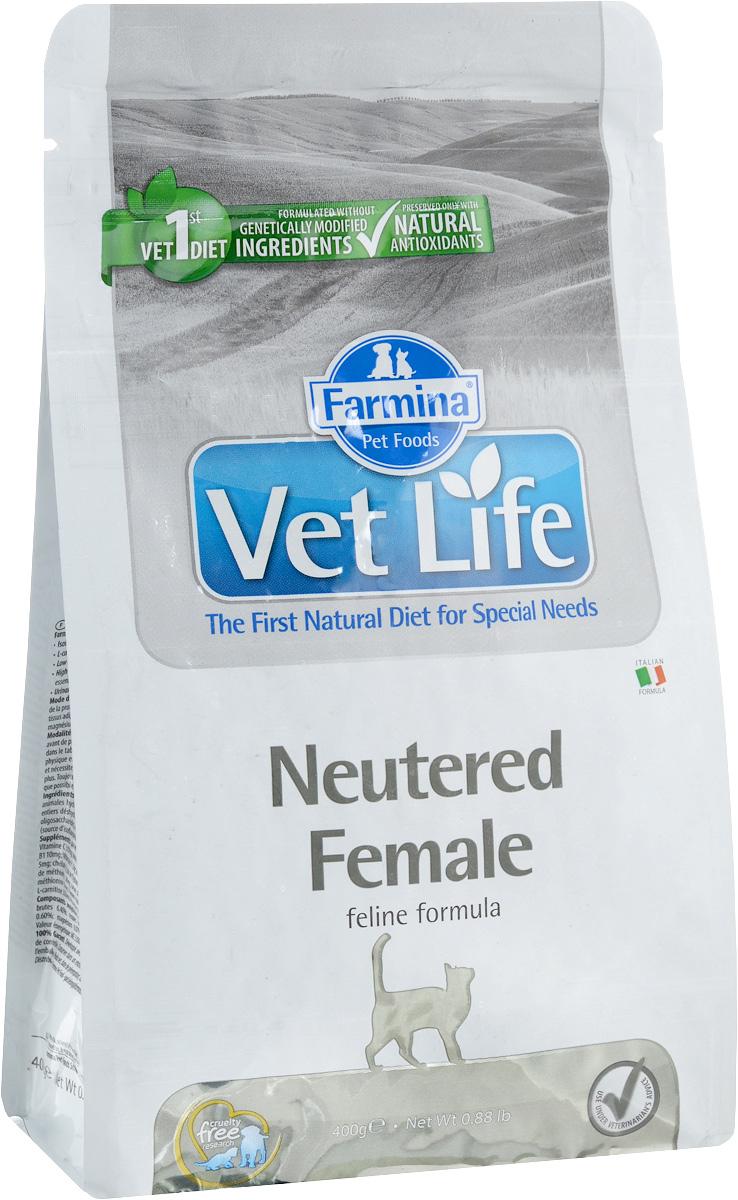 Корм сухой Farmina Vet Life для стерилизованных кошек, диетический, 400 г22547Сухой корм Farmina Vet Life - диетическое полнорационное и сбалансированное питание для взрослых стерилизованных кошек. Сниженная энергетическая плотность продукта ограничивает риск развития ожирения. Высокая биологическая ценность белков и L-карнитин способствуют поддержанию мышечной массы и использованию запасов жиров. Низкое содержание углеводов снижает вероятность развития диабета. Низкое содержание фосфора и магния, а также сульфат кальция профилактируют развитие мочекаменной болезни. Товар сертифицирован.