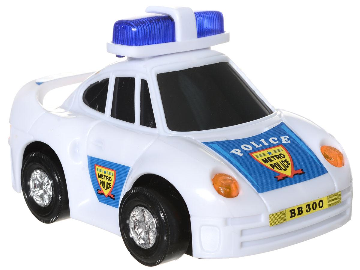 Dickie Toys Машинка Полиция3341008_белыйМашинка Dickie Toys Полиция - небольшая игрушка, которую удобно держать в руках и с которой интересно играть. Это реалистичная детализированная машинка, которая точно понравится вашему ребенку. Ее необычные функции привлекут внимание малыша. Игрушка развивает мелкую моторику, реакцию и фантазию ребенка. Малышей она заставляет двигаться и следовать за ней, тем самым тренируя внимание и координацию движений. У машинки светятся фары. Снабжена функцией объезда препятствий, когда машинка врезается в стенку, она самостоятельно разворачивается и едет в другую сторону. Машинка имеет обтекаемые формы, чтобы не царапаться о препятствия. Необходимо купить 2 батарейки напряжением 1,5V типа АА (не входят в комплект).