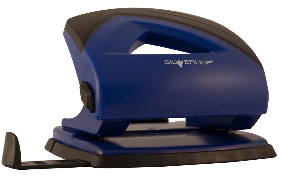 Silwerhof Дырокол Shark на 20 листов цвет синий391017-23Надежный дырокол Silwerhof Shark - это незаменимый офисный инструмент для перфорации бумаги и картона. Металлический дырокол с нескользящим основанием предназначен для одновременной перфорации до 20 листов бумаги. Для выравнивания листов предусмотрена выдвижная форматная линейка. У дырокола пробивной механизм из легированной стали, нажимная часть из ударопрочного пластика и пластиковый поддон для сбора конфетти с функцией частичного открывания.