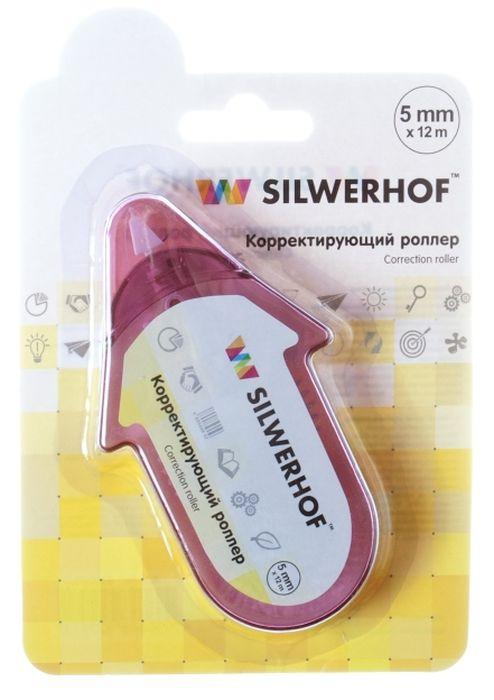 Silwerhof Корректирующая лента-роллер цвет розовый 5 мм х 12 м