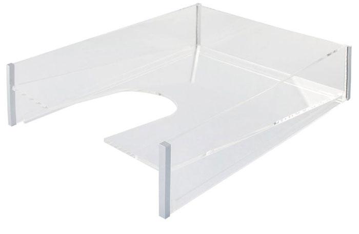 Silwerhof Лоток для бумаг Luftelegie цвет прозрачный 1 отделение471101-50Офисные принадлежности в стиле hi-tech. Все предметы выполнены из кристально прозрачного акрилас элегантными хромированными деталями. Все предметы коллекции продаются отдельно друг от друга, что позволяет создать максимально функциональный набор. Ширина- 22,3 см, глубина-30,2 см