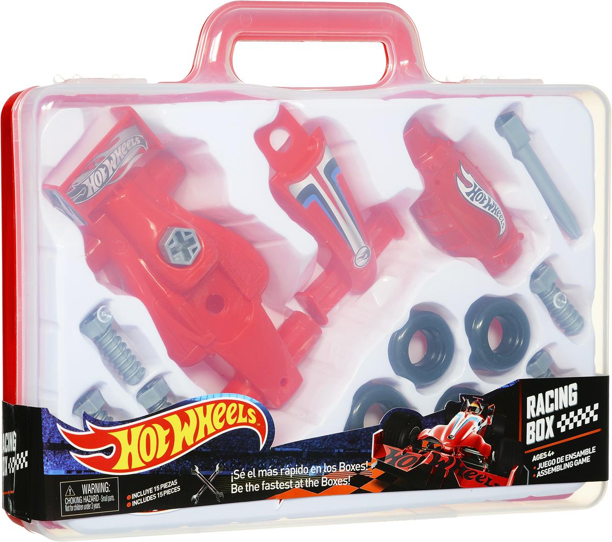Corpa Игровой набор Юный механик Hot Wheels в чемоданчикеHW225Игровой набор Corpa Юный механик Hot Wheels позволит вашему малышу почувствовать себя настоящим механиком и погрузиться в удивительный мир техники и конструирования! Все малыши любят разбирать игрушки и изучать, как они устроены. Этот игровой набор позволит малышу самому сначала собрать, а затем разобрать гоночную модель автомобиля. Все элементы набора изготовлены из высококачественного яркого пластика. Собранной моделью можно играть как простой машинкой. С таким набором ваш ребенок весело проведет время, играя на детской площадке или в песочнице. А процесс сборки игрушки поможет малышу развить мелкую моторику пальчиков, внимательность и усидчивость. Набор упакован в практичный пластиковый чемоданчик. Порадуйте своего малыша такой чудесной игрушкой!