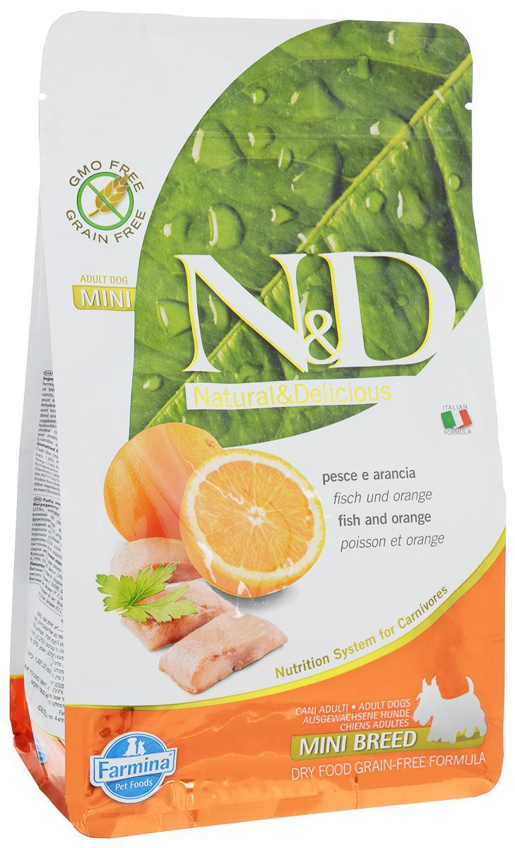 Корм сухой Farmina N&D для собак мелких пород, беззерновой, с рыбой и апельсином, 800 г21724Сухой корм Farmina N&D является беззерновым и сбалансированным питанием для собак мелких пород. Изделие имеет высокое содержание витаминов и питательных веществ. Сухой корм содержит натуральные компоненты, которые необходимы для полноценного и здорового питания домашних животных. Товар сертифицирован.