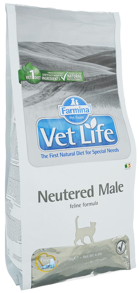 """Корм сухой Farmina """"Vet Life"""" для взрослых кастрированных котов, диетический, 2 кг 22493"""