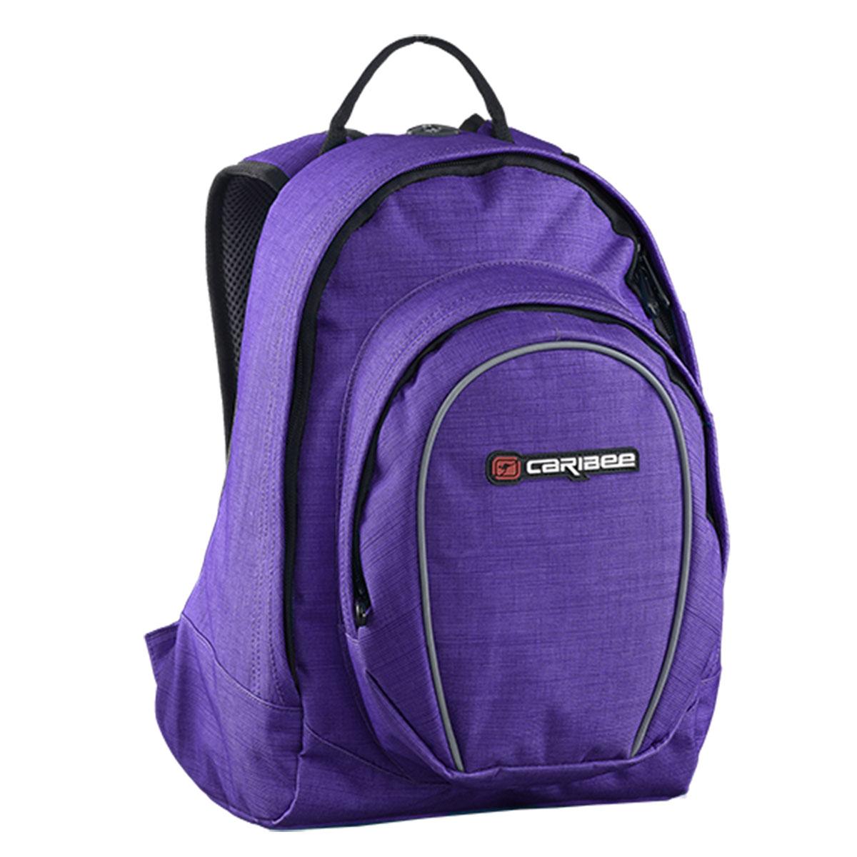 Рюкзак городской Caribee Spice, цвет: фиолетовый, 18 л62291Женский рюкзак Caribee Spice. Модель выполнена из износостойкой ткани – полиэстера, известной тем, что она не впитывает влагу и устойчива к воздействию ультрафиолетовых лучей. Те части рюкзака, которые непосредственно соприкасаются со спиной и плечами, выкроены с учетом анатомических особенностей и оснащены мягкой подкладкой. Это типичный городской рюкзак, который подойдет для девушки, ведущей активный образ жизни. Несколько отделений изделия позволяют сортировать содержимое, также как и отдельный кармашек для плеера решает проблему его размещения. При желании данный рюкзак может заменить женскую сумочку в дальней поездке. Основные характеристики: сдвоенное отделение отделение для плеера с cord-портом встроенный органайзер фронтальный карман на молнии Объем 20л, Размер 38 x 28 x 18cm