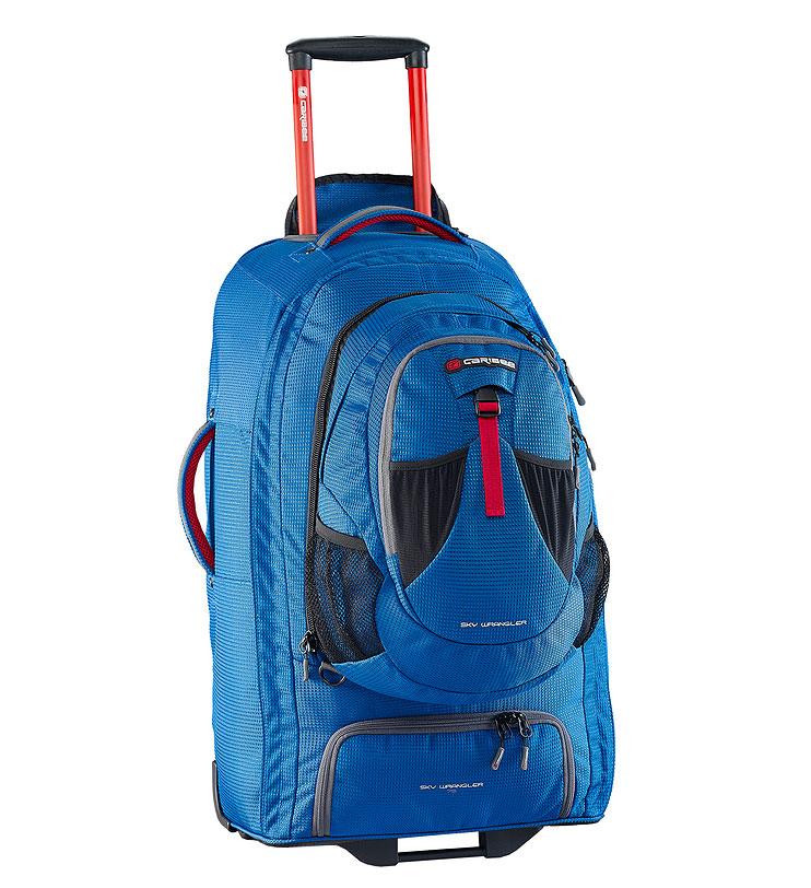 Рюкзак для путешествийествий Caribee Europa, цвет: голубой, 75 л6826В серии рюкзаков для путешествий EUROPA используется усиленный материал 1200D Dimotec. Эти рюкзаки специально предназначены для активных поездок - когда и рюкзак и колеса имеют большое значение. В рюкзаке есть отстегивающийся мини-рюкзак (передний отдел), который вам очень пригодится при перелетах. Основной отдел очень вместителен и включает в себя отдельный отсек для обуви. Алюминиевая выдвигающаяся ручка с кнопкой и увеличенные колеса обеспечат вам легкое преодоление любых преград на любой местности. А если дорога совсем непроходима, вы можете перекинуть рюкзак через плечо и продолжить путь. Все молнии усилены и не уступают по прочностным характеристикам тем, которыми оснащаются туристические и альпинистские рюкзаки. Как дополнительная защитная функция, мини-рюкзак может быть закреплен специальными ремнями с противоположной стороны основного рюкзака. Таким образом, основной рюкзак будет у вас за плечами, а мини-рюкзак с ценными вещами или документами будет перед вами. Перед Вами -...
