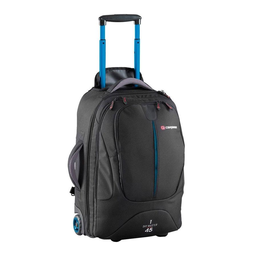 Рюкзак на колесах Caribee Sky Master, цвет: черный, 45 л6917Sky Master предоставляет вам выбор – нести рюкзак или катить его по земле. 70-и и 80-и литровые рюкзаки очень легкие и оборудованы скрытой системой анатомических лямок с мягкой подушкой, бедренном ремнем, поясничной поддержкой, отстегивающимися верхним и нижним отделами, что делает их использование сплошным удовольствием! Алюминиевая выдвигающаяся ручка и большие колеса позволяют легко преодолевать любые дороги. Эти рюкзаки также имеют отстегивающийся небольшой рюкзак, расположенный на лицевой части. Это означает, что по приезде на место вам не понадобится таскать повсюду весь рюкзак целиком. Чтобы помочь разложить вещи во время путешествия, рюкзак оборудован длинной молнией и отстегивающимся отделом для обуви. Таким образом вы легко сможете достать вещи из любого места рюкзака, а ваша обувь не испачкает одежду. Закрывающийся на молнию корпус, набедренные ремни с мягкой защитой, множество внутренних карманов и фиксирующие ремни, защищающие вашу одежду, делают Sky Master надежным и...