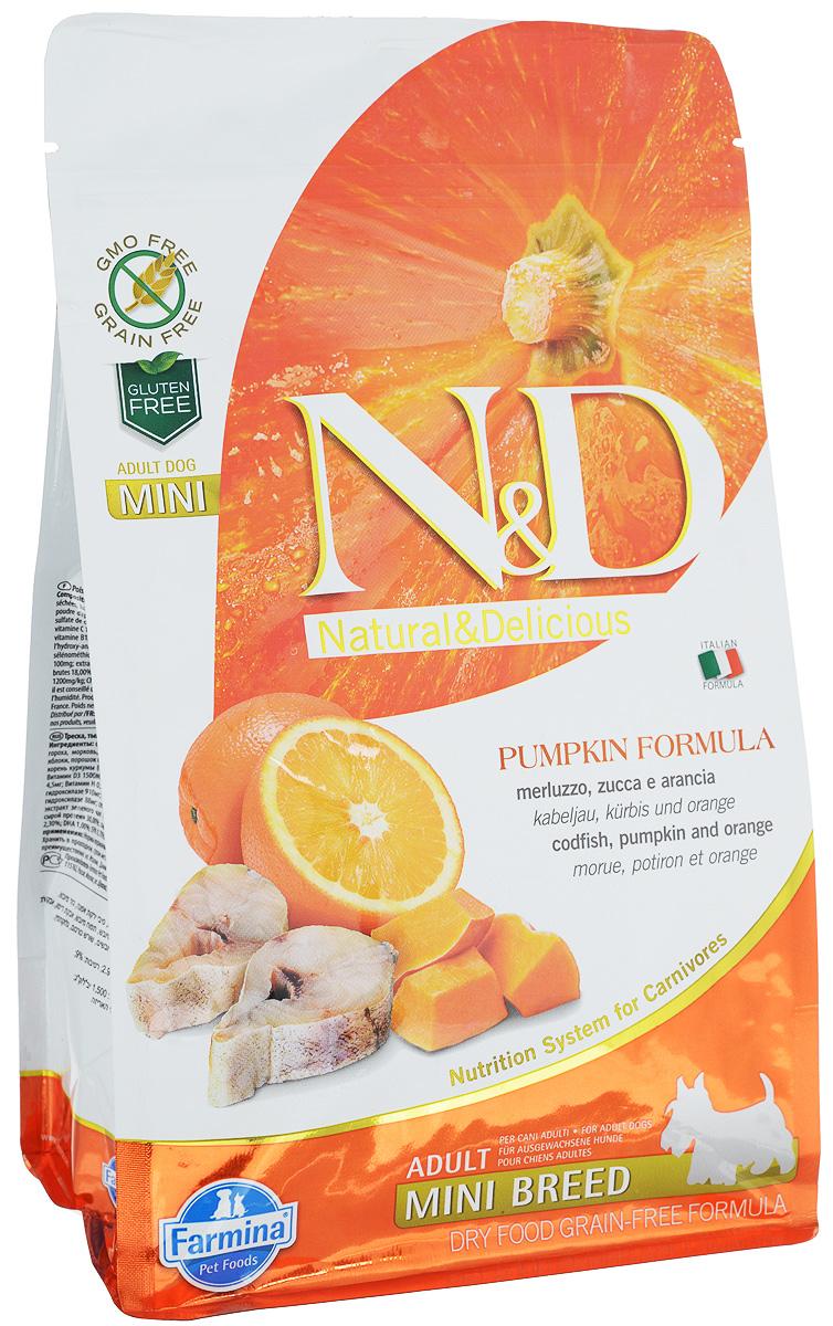 Корм сухой Farmina N&D для собак мелких пород, беззерновой, с треской, тыквой и апельсином, 800 г33222Сухой корм Farmina N&D является беззерновым и сбалансированным питанием для собак мелких пород. Изделие имеет высокое содержание витаминов и питательных веществ. Сухой корм содержит натуральные компоненты, которые необходимы для полноценного и здорового питания домашних животных. Товар сертифицирован.