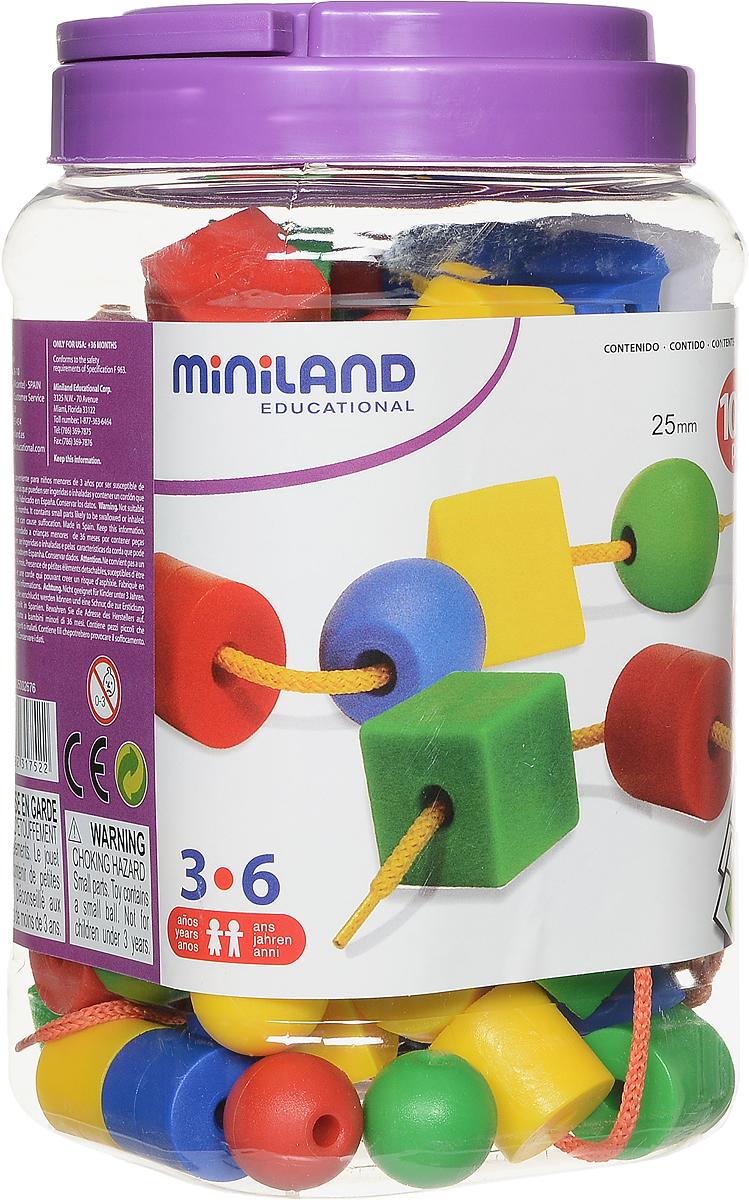 Miniland Шнуровка Геометрические фигуры31752Шнуровка Miniland Геометрические фигуры способствует развитию моторики, визуально-двигательной координации, внимания и концентрации. В игровой форме ребенок сможет усвоить основные понятия математической логики: сортировка по форме, сортировка по цвету, представления чисел и счета, основы геометрии. Облегчает будущее усвоение навыков чтения - письма, оттачивает понимание и мышление. В наборе 100 геометрических фигур 4 цветов, 10 шнурков, карточки с заданиями для формирования навыков классификации и изучения цвета.