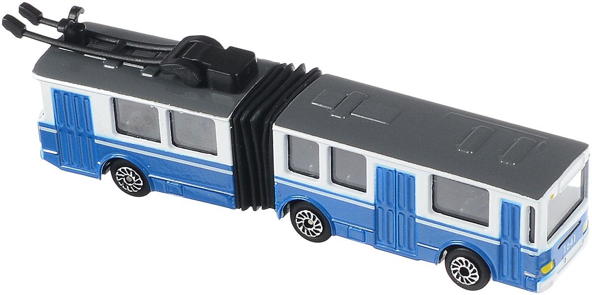 ТехноПарк Троллейбус с резинкойSB-15-34-TТроллейбус - транспортное средство, которое передвигается с помощью электроэнергии, получаемой посредством специальных штанг, или, как их еще называют, рогов. Этот вид транспорта очень хорошо известен в городах. Троллейбус с резинкой ТехноПарк представляет собой уменьшенную, высокодетализированную копию настоящего троллейбуса. Корпус игрушки выполнен из металла с пластиковыми элементами. Колеса свободно вращаются. Такой троллейбус будет замечательным подарком любому мальчику, а также коллекционеру моделей городского транспорта.