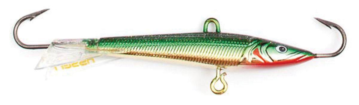 Балансир Asseri, цвет: зеленый, серебристый, красный, длина 5 см, вес 5 г. 513-05008513-05008Балансир Asseri - это приманка, предназначенная для ловли в отвес. Основным и самым важным отличием балансиров от зимних блесен является способность играть в горизонтальной плоскости. Такая игра имитирует естественные движения мелкой рыбы, которые меньше настораживают хищника. С каждым годом приманки заслуженно занимают место в арсенале любителей зимней ловли хищника. Качественный и стильный балансир Asseri изготовлен по последним новейшим технологиям.