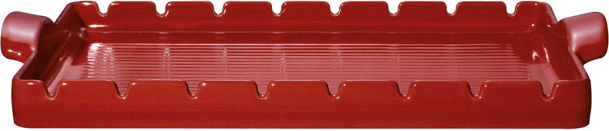 Форма для барбекю и гриля Emile Henry, с шампурами, цвет: гранат, 42 х 25 см347542Барбекю-гриль Emile Henry BBQ изготовлен из высококачественной жаропрочной BBQ керамики - полностью натуральный материал (без примеси металлов), идеально подходящий для медленного и равномерного приготовления пищи. Керамика гарантирует правильный здоровый подход к кулинарии: любые блюда получаются ароматными и сохраняют все полезные вещества, не подвергаясь перепадам температур в процессе приготовления. Благодаря медленному распределению тепла, вкусы и запахи продуктов концентрируются и становятся более насыщенными. Керамическая посуда обладает свойством долго сохранять тепло после того, как блюдо было снято с огня, и легко удерживать холод после того, как блюдо достали из холодильника. Эта форма создана для приготовления барбекю в духовке или на барбекю- решетке. В комплекте предусмотрено 8 металлических шампуров. Кусочки шашлыка можно удобно разместить на шампурах (для шампуров предназначены специальные выемки), где они равномерно...