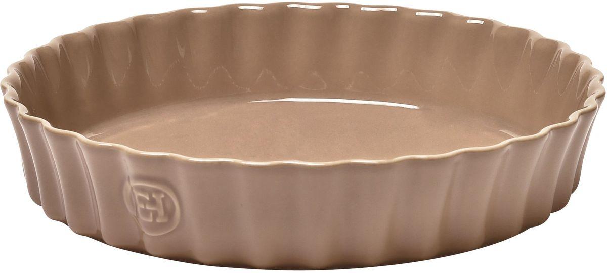Форма для запекания Emile Henry Киш II, цвет: мускат, диаметр 28 см966028Форма для запекания Emile Henry Киш II специально предназначена для приготовления киша или клафути. Клафути - особый французский десерт, нежно тающий во рту, который должен готовиться медленно и пропекаться равномерно. Эта керамическая форма незаменима для его приготовления. А порционный размер формы, прекрасно сохраняющий температуру, удобен для подачи блюда прямо на стол. Форма выполнена из качественной керамики со стеклянной глазурью, выдерживающей нагрев до 250°С. Благодаря свойствам высококачественной керамики, посуда Emile Henry позволяет готовить медленно, равномерно, сохраняя полезные свойства продуктов. Благодаря высокопрочному покрытию, вы можете нарезать готовые блюда прямо на посуде непосредственно до или во время подачи на стол. Благодаря отсутствию в ее составе металлов, продукция Emile Henry может использоваться в конвекционных печах, обычных духовых и микроволновых печах. Можно ставить в морозильную камеру, выдерживает температуру -20°C и при...