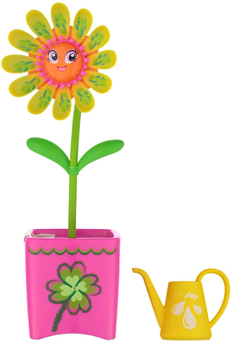 Magic Blooms Интерактивная игрушка Волшебный цветок цвет желтый розовый88430S_желтый, розовыйИнтерактивная игрушка Magic Blooms Волшебный цветок непременно понравится каждой девочке. Просто прикоснитесь к цветочку и он начнет двигаться и петь. Если вы запишете пару слов, он сможет их повторить под музыку. Также вы можете создать хор, объединив несколько Magic Blooms вместе, они будут петь синхронно. Игрушка выполнена из нетоксичного и абсолютно безопасного для детей материала. В комплект входят волшебный цветочек и лейка. Для работы цветочка рекомендуется докупить 3 батарейки напряжением 1,5V типа AAA (товар комплектуется демонстрационными).