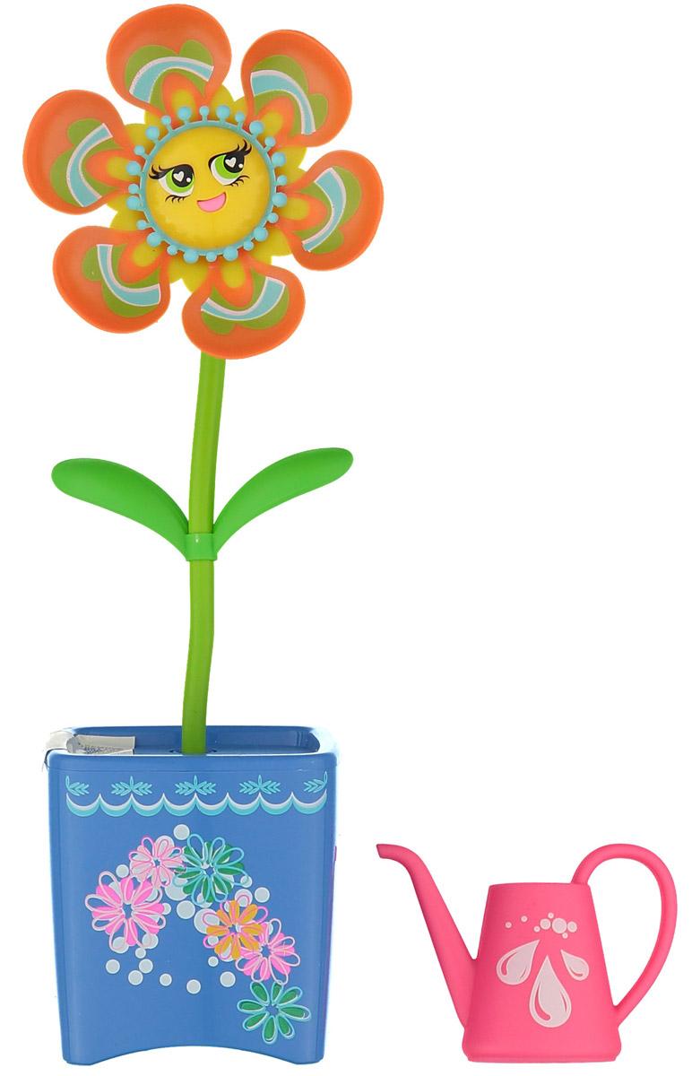 Magic Blooms Интерактивная игрушка Волшебный цветок цвет оранжевый голубой88430S_оранжевый, голубойИнтерактивная игрушка Magic Blooms Волшебный цветок непременно понравится каждой девочке. Необходимо легко прикоснуться к цветочку, и он начнет двигаться и петь. Если вы запишете пару слов, он сможет их повторить под музыку. Также вы можете создать дуэт, объединив двух Magic Blooms вместе, они будут петь синхронно. Игрушка выполнена из нетоксичного и абсолютно безопасного для детей материала. В комплект входят волшебный цветочек и лейка. Для работы цветочка рекомендуется докупить 3 батарейки типа AAA (комплектуется демонстрационными).