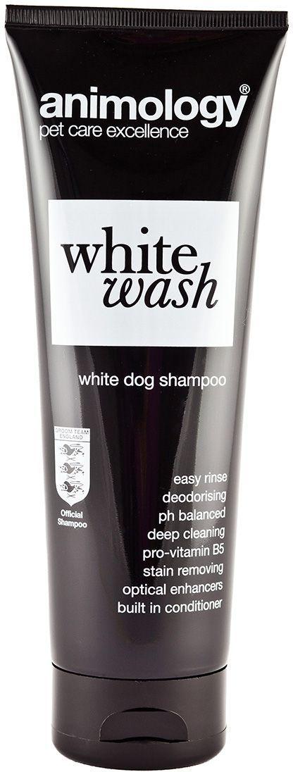 Шампунь концентрированный Animology White Wash, для белой шерсти, 250 мл10030Концентрированный шампунь Animology White Wash (Уайт Уош) для всех типов белой и серебристой шерсти. Его формула, помогает добиться безукоризненно белого цвета. Усиливает яркость и насыщенность цвета. Предотвращает и восстанавливает тусклость цвета шерсти. Не сушит кожу и не раздражает кожу собаки, придаёт шерсти Вашего любимца приятный аромат и шелковистый блеск белой шерсти. Сбалансирован по рH, слабо пенится с приятным ароматом свежести. Подходит для ежедневного использования для собак с белой и серебристой шерстью. Можно использовать с 6-месячного возраста. Не препятствует действию антипаразитных препаратов длительного действия. Этот шампунь изготовлен с использованием новой технологии 'EASY RINSE' (что дословно переводится как лёгкое смывание). Эта технология сводит к минимуму время мытья животного, содержание Кондиционера и Про-Витамина В5 улучшает здоровье, эластичность и состояние шерсти животного Animology White Wash придаст Вашей собаки приятный аромат...