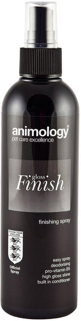 Блеск-спрей Animology Gloss Finish Finishing, для закрепления формы и объема, для всех типов шерсти, 250 мл10641Animology Gloss Finish (Глосс Финиш) - лёгкий спрей для заключительной обработки шерсти. Подходит для всех типов шерсти. Обеспечивает дополнительный блеск шерсти по окончании работы грумера. Позволяет получить от шерсти максимум возможного лоска и позволяет собаке выглядеть наилучшим образом. Экономичен. Примение: Достаточно лёгкого распыления при заключительной укладке шерсти. Не оставляет липких или жирных следов на шерсти. Обладает фирменным ароматом Animology